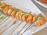 Gingered Pineapple Chicken Skewers