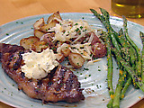 House Fire Steak and Sugar-Grilled Asparagus
