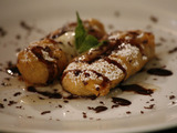 Fried Bananas with Lavender Honey and Five-Spice Chocolate