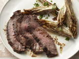 Maple Glazed Flank Steak with Roasted Endive