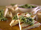Grilled Tofu with Asiago and Walnut Pesto