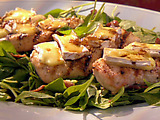 Grilled Chicken with Brie and Baby Spinach Salad