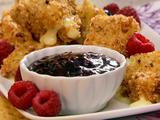 Pecan Crusted Fried Brie with Raspberry Sauce