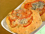 Caramelized Onion, Rosemary and Fresh Tomato Bread