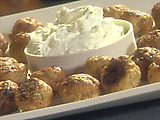 Turkey Meatballs with a Minted Yogurt Dipping Sauce