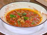 Smoked Sausage, Tomato and Mushroom Soup