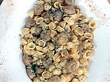 Smoked Mushrooms and Tasso over Orecchiette