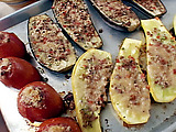 Eggplant, Yellow Squash and Tomato Casino