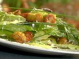 Romaine Salad with Homemade Croutons and Lemon Vinaigrette