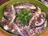 Lime Marinated Dorado with Cilantro Cabbage