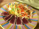 Ahi Tuna with Napa Cabbage Salad