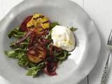 Grilled Stonefruit, Arugula, and Bresaola Salad