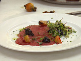 Tuna Carpaccio with Roasted Baby Beets and Citrus Pressed Olive Oil