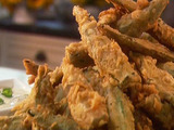 Cajun Tempura Okra with Scallion Dipping Sauce