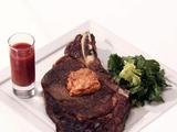 Rib Eye Steaks with Parsley Butter and Bloody Mary Shots