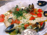 Cod with the Fruit of the Sea---Merluzzo Ai Frutti di Mare