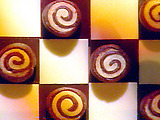 Chocolate Spiral Cookies