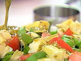 Arugula Salad with Pesto Vinaigrette