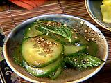 Cool Sesame Cucumbers