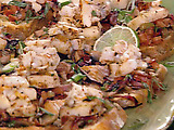 Caribbean Bruschetta with Shrimp and Scallops
