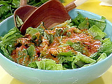 Romaine Hearts with Red Pepper Vinaigrette