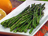 Asparagus with Sesame Citrus Sauce