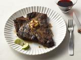 Grilled T-Bones with Chipotle-Lime Butter