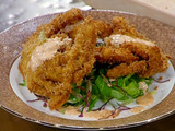 Panko-Dusted Soft Shell Crabs with Spicy Mayonnaise Drizzle