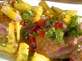 Grilled Yellow Fin Tuna with Grilled Pineapple Salsa