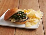 Roasted Portobello Mushroom Burgers with Blue Cheese