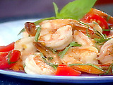 Shrimp with Basil, Garlic, and Tomatoes