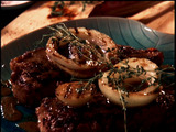 Grilled Steak and Vidalia Onions with Mustard-Worcestershire Vinaigrette
