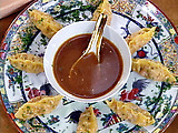 Crawfish Dumpling with a Ginger Soy Dipping Sauce