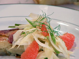 Warm Shaved Fennel with Pink Grapefruit