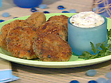 Mini Fishcakes with Dijon Caper Mayonnaise