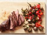 Trip-Tip Steak With Mushrooms and Peppers