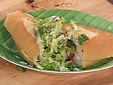Vietnamese-Style Marinated and Grilled Pork Poboy (Banh Mi)