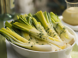 Leeks with Dijon Vinaigrette