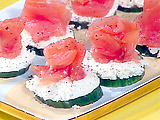 Cucumber Snackers You'll never miss that cracker!