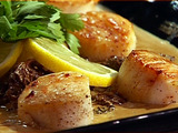 Seared Scallops with Morel Cream Sauce