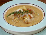 Garlic Soup with Creole Croutons