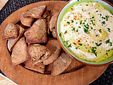 Classic Hummus with Spiced 'n Baked Pita Chips
