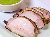Herb Roasted Pork Loin with Parsley Shallot Sauce