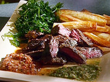 Skirt Steak with Chimichurri Sauce and Yucca Fries
