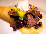 Main Challenge: Skirt Steak Tostada with Black Beans and Mango Salsa