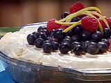 Emeril's Creamy Lemon Icebox Pie with Lemon-Scented Whipped Cream and Fresh Berries