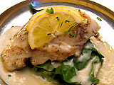 Pan-Seared Rockfish with Lemon Beurre Blanc