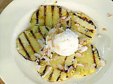 Grilled Pineapple with Rum Glaze and Coconut Ice Cream