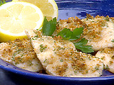 Baked Bass with Romano Cheese