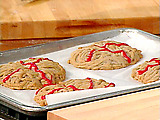 Brain Cookies with Blood Glaze